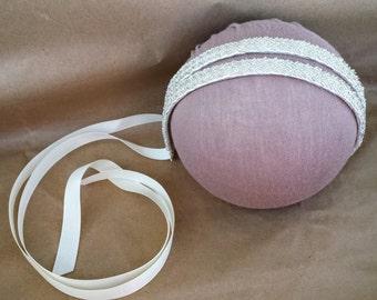Beaded Bridal Headband with Ribbon; Boho Chic Bridal Headband; Rustic Wedding Hair Jewelry; Bridesmaid Headband; Flower Girl Headband
