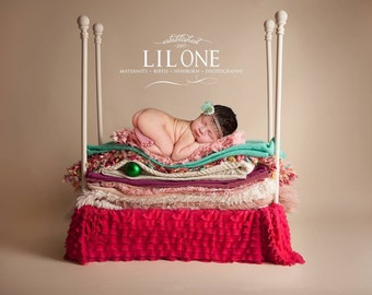 Princess and the Pea Backdrop!  Instant Download! Newborn prop bed digital backdrop! Very easy to use! Looks very realistic!