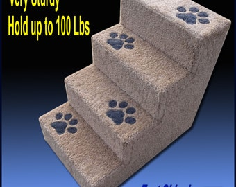 Sturdy Dog Steps, 24u0027H With Paw Prints. Pet Furniture, Dog Stairs