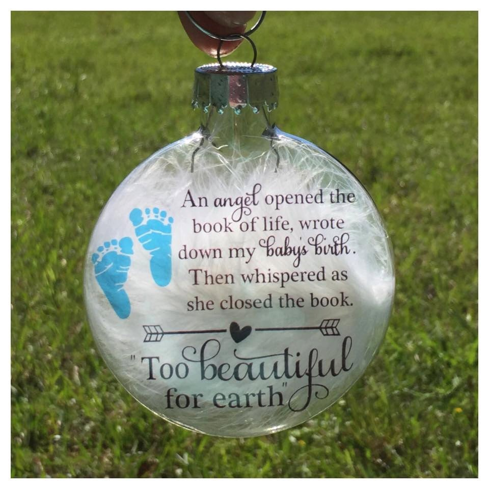 Baby loss ornaments - Baby Memorial Ornament Miscarriage Keepsake Baby Loss Ornament Angel Baby Ornament Child