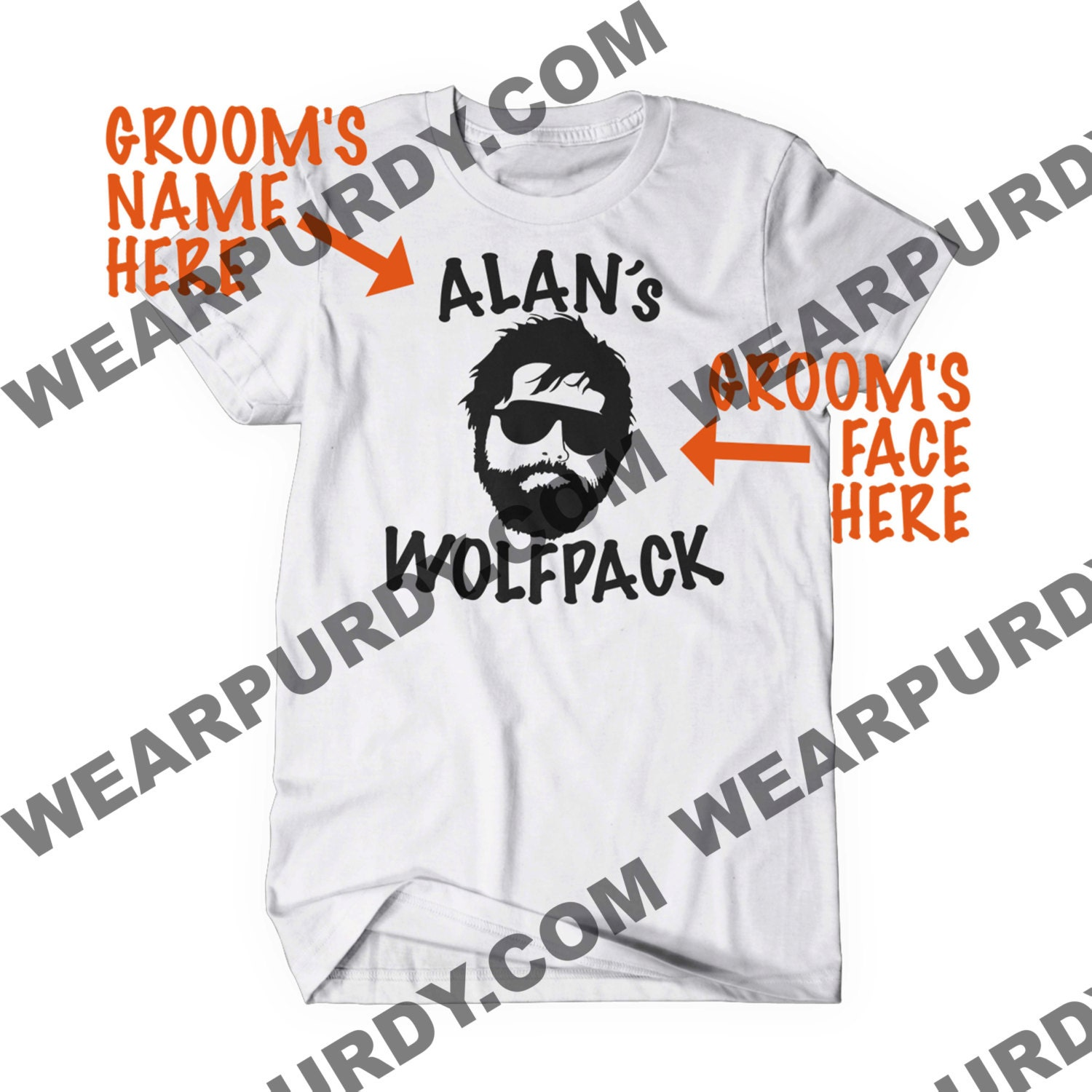 5ac4cefe67d46 Bachelor Party Shirts Wolf Pack | Toffee Art