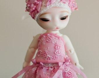 Corset set for BJD dolls 15cm - Pipos Junior, Pukifee, Lati Yellow.