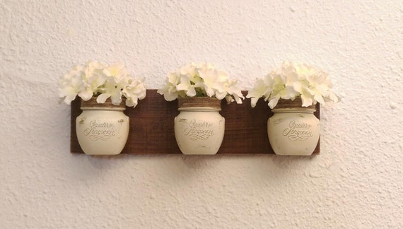 Home decor Southern Rustic Chic Mason Jar wall by