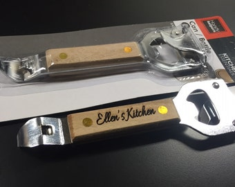Personalized can and bottle opener