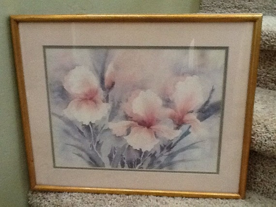 Framed Floral Watercolor Print Artist Donna Beaubien