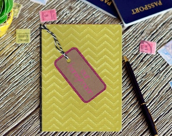 Honeymoon journal | Our honeymoon | Travel gifts for her | Wedding present for travelers | Bridal shower gift | Customizable travel present