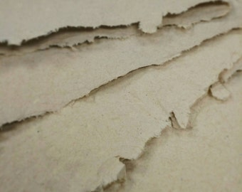 Handmade recycled paper. (Mid-range natural color)