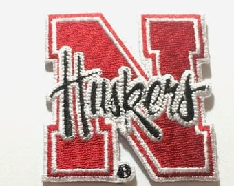 Nebraska Cornhuskers Embroidered Iron on Huskers Patches
