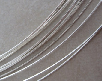 120 inch 22 gauge half hard square sterling silver wire