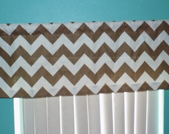 Brown Chocolate chevron zigzag Window Treatments Curtain Valance