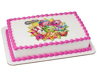 Shopkins Edible Cake or Cupcake Toppers - Choose Your Size