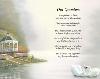 Personalized Poem Our Grandma