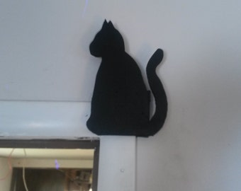 Cat door frame corner decor