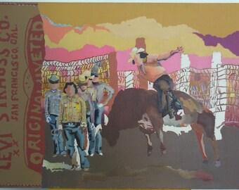 Pop Art western cowboy painting