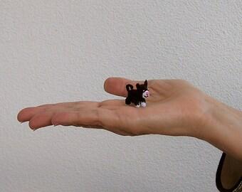 Miniature Kitten, Miniature Cat, Tuxedo Cat, Crochet Cat, Crochet Kitten, Crochet Animal, Miniature Animal