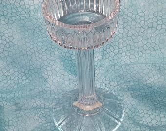 Shannon Ireland Clear 24 Percent Lead Crystal Pillar Pedestal Candle Holder