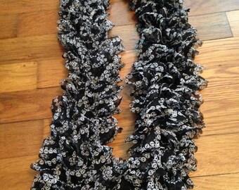 Skull ruffle scarf