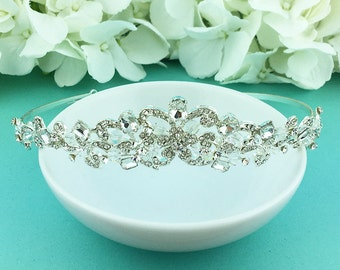 Swarovski Crystal Wedding Tiara, Pearl Wedding Tiara, wedding headpiece, royal style tiara, rhinestone tiara, pearl tiara 455443818