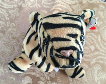 Beanie Baby, Ty Beanie Baby, Stripes the Tiger, Tiger Plush Baby,   Ty Tigers,Ty Babies, Ty Tiger Babies, Tigers