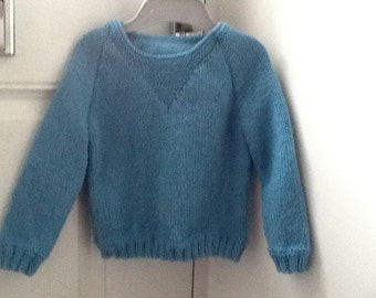 Hand knitted jumper for 1 year old