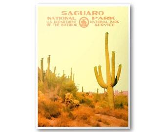Saguaro National Park Travel Poster