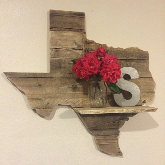 Wooden Texas Recycled Pallet Sign By Rusticrestyle On Etsy: Reclaimed Wood Texas Sign WITH SHELF By HarborAndHome On Etsy