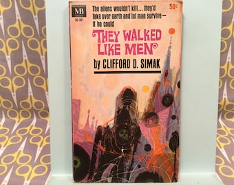 They Walked Like Men by Clifford D. Simak Vintage science fiction Paperback Book