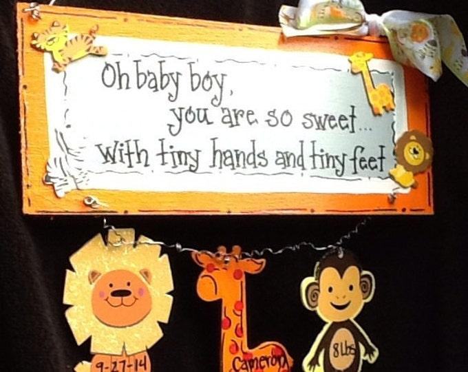 nursery door sign, nursery door hanger, baby boy sign, nursery sign, Baby boy nursery sign, baby sign, babies room decor, newborn signs