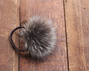 Racoon pom pom for hair