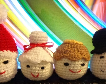 Christmas Ornaments Santa, Mrs. Claus, Frosty, Angel
