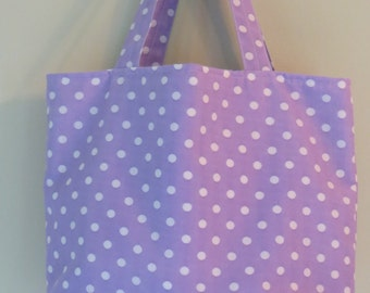 Purple with white dots purse