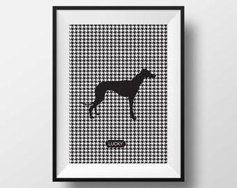 Greyhound dog print, Greyhound artwork, Greyhound art, Greyhound poster, Greyhound art, dog art, dogs print, dogs artwork, dog custom prints