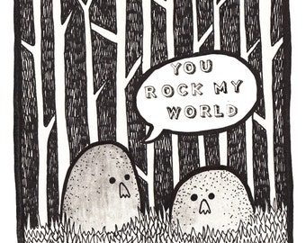 "Greeting Card ""you rock my world"""