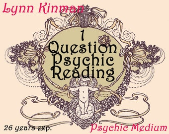 Psychic Reading 1 Question Lynn Kinman Psychic Medium Same Day Reading Fast Psychic Reading Tarot Reading Email Or Phone Reading Love Future