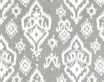 Gray Valance. Gray and white Window Valance. Raji design. Cotton. Gray Curtain. Window treatment.  Choose  your sizes