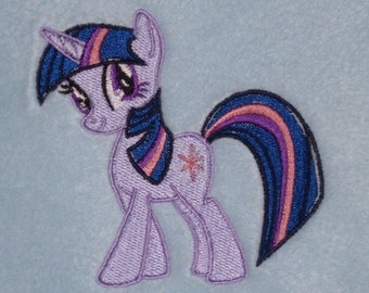 Personalised Cotton Bath Towel - Twilight Sparkle My Little Pony Design (208)