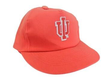 NCAA Indiana Hoosiers Vintage 1980's Snapback Hat Indiana University Bloomington