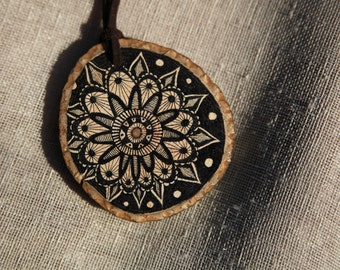 Wooden Hand Drawn Necklace