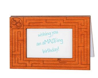 Birthday Wishes Card, Wood birthday cards, Funny Birthday Card, Greeting Card, Birthday Gift, Birthday Card Friend, Happy Birthday