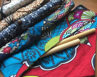 Cotton Carrying Pouch / Wrap for Reusable Straws / Cutlery / Chopsticks