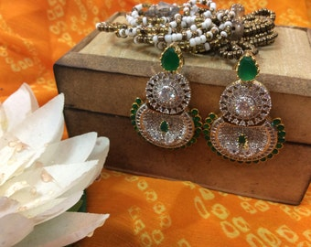 AD & Emerald Earring