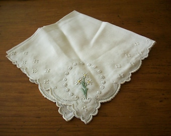 Vintage lace embroidery  hanky