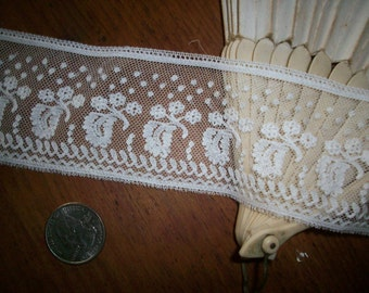 Antique french lace doll scale white