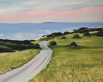 Australian Landscape Painting, Country Meets Coast, Original, Acrylic on Canvas, Australian Artist, Ready to Hang