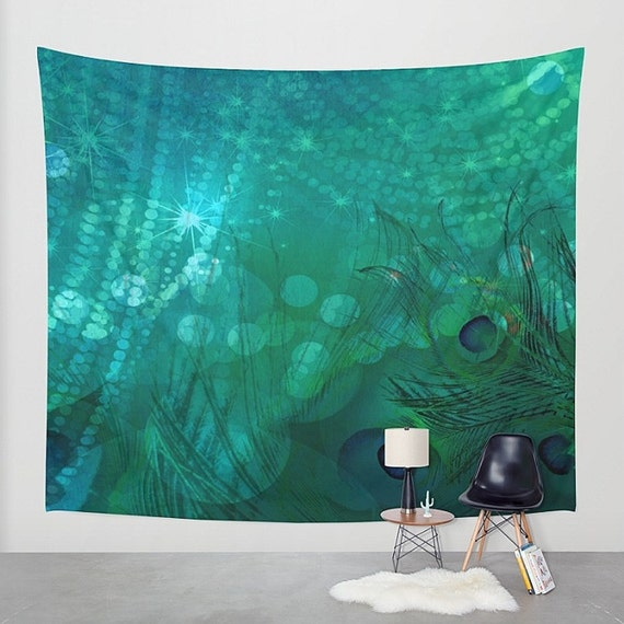Peacock Home Decor: Peacock Wall Tapestry Home Decor. Large Size Wall Art Wall