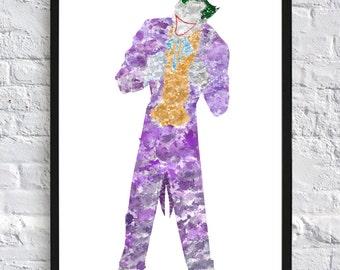 The Joker Watercolour - Framed