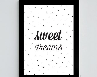 Sweet dreams - A4 size poster
