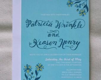 Oh My Daisy Wedding Invitation