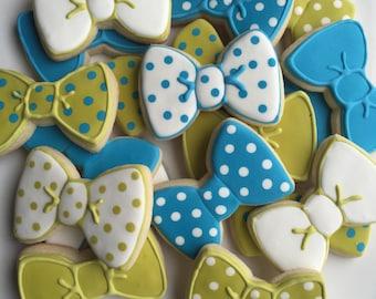 2 Dozen Bow Tie Sugar Cookies; Bow Tie Cookies