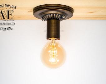 LIQUIDATION Bronze Ceiling light Industrial ceiling light, Antique Edison Bulb, Lamp, Rustic Lighting